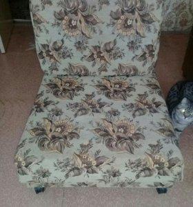 Кресло- кровать, стол- тумба.