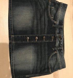Новая джинсовая юбка Mango, р.S