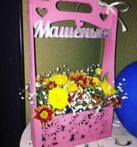 Корзины, ящики для букетов цветов