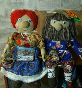 Куклы интерьерные.Домовой и Домовушка.