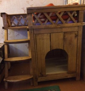 Будка деревянная ручная работа
