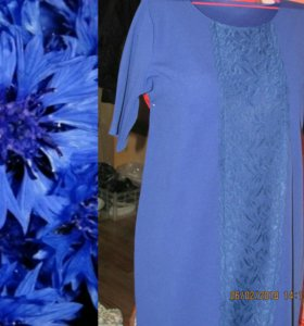 Новое р-р 52.Платье цвета фиалки