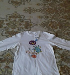 Футболка-кофта для мальчика с длинным рукавом нов