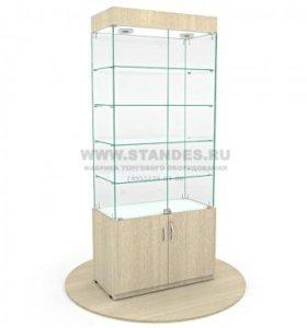 Стеклянные витрины с подсветкой