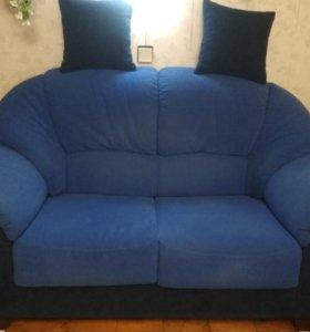 Комплект мягкой мебели,диван,кресло