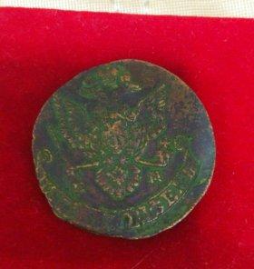 Монета 5 копеек, медь, 1779