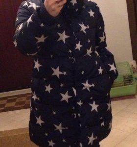 Куртка состояние хорошее цвет темно-синий