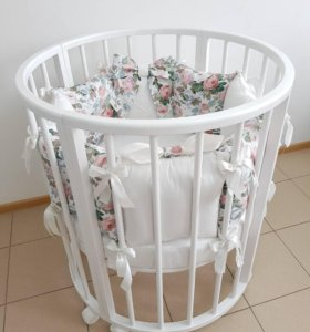 Круглая детская кроватка(трансформер)