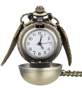 Карманные часы Гарри Поттер и золотой снитч