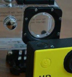 Экшн камера, видеосъемка в HD, водонепроницаема.