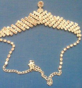 Подвеска, сережки, браслет, цепочка. Индия.