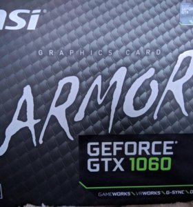 Msi 1060 gtx armor 3g