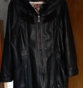 Женская куртка (кожа)