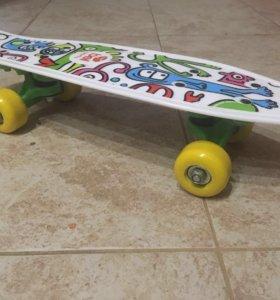 Скейтборд + самокат
