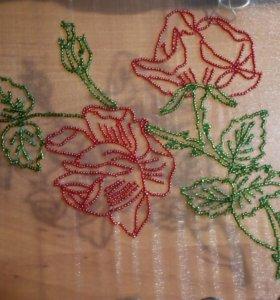 """Люневильская вышивка """"Букет роз"""""""