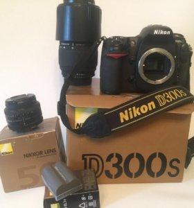 Nikon D300s+3 объектива+доп.аккум+cd16gb+cf16gb
