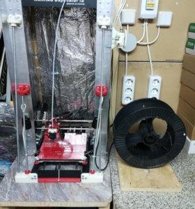 Очень кастомизированный 3D принтер Wanhao i3
