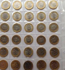 Монеты unc , 10 комплектов 70 лет ВОВ