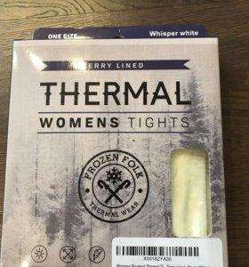 Белые тёплые колготки из США
