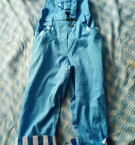 летние брюки на лямках на 3-5г