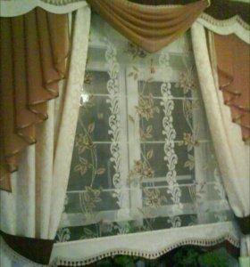 Комплект штор с жестким ламбрекеном (бандо)