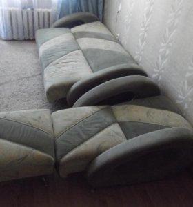 Диван + кресло + пуфик