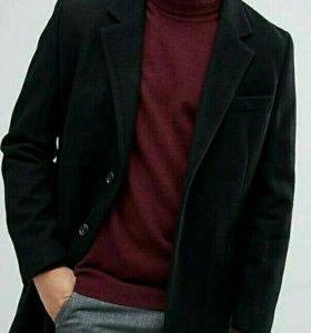 Пальто чёрное, из Англии