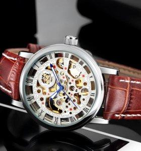 Мужские механические часы скелетоны Mr. Orkina