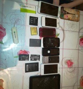 Б/У нерабочие телефоны. Батарейки рабочие все