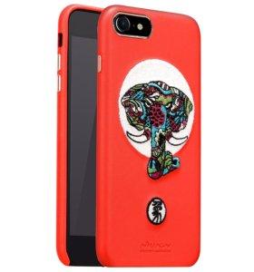 Кожаный чехол iPhone 8 Красный Nillkin