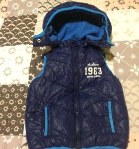 Жилет на мальчика куртка 86-92