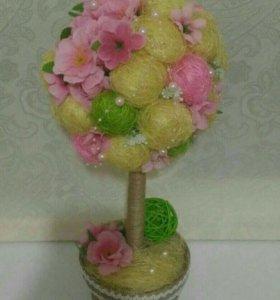 Топиарии, декор, композиции из цветов
