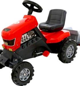 """Каталка трактор """"Turbo"""" с педалями с полуприцепом"""
