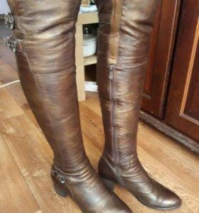 Ботфорты кожаные