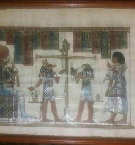 Египетский папирус в рамке