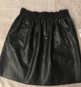 Новая кожаная юбка ZARA