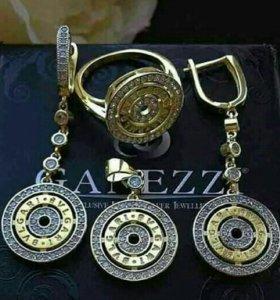 Серебро 925 комплект Булгари