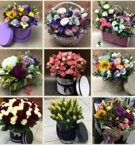 Цветы, Букеты,Композиции,Розы!!!