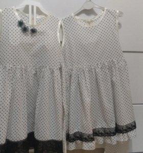 2 новых платья, размер 110. Ткань 100% cotton
