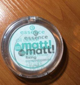 Пудра матирующая Essence All about matt
