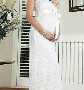 Свадебное платье для беременных, для фотосессии