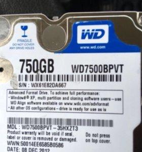 Wd 750 gb на ноутбук