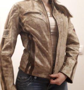 Кожаная куртка Blondio женская