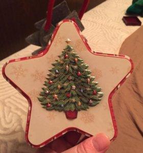 Коробочка и сумочка новогодние , подарочные
