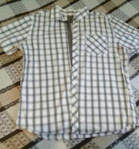 Рубашка в клетку мужская 52-54