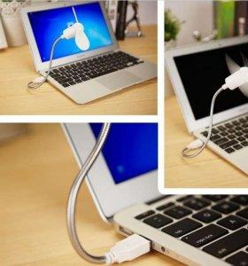 USB Вентилятор на гибкой ножке пропеллер (Белый)