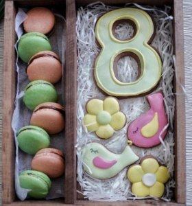 Торт цифра, имбирные пряники, зефир