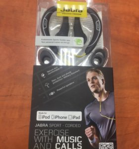 Гарнитура Jabra SPORT-Corded Stereo HD Apple