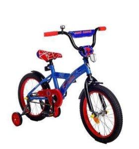 "Велосипед 16"" GRAFFITI ""Человек паук"", синий"
