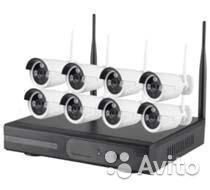 Беспроводной 8 кан. IP комплект видеонаблюдения